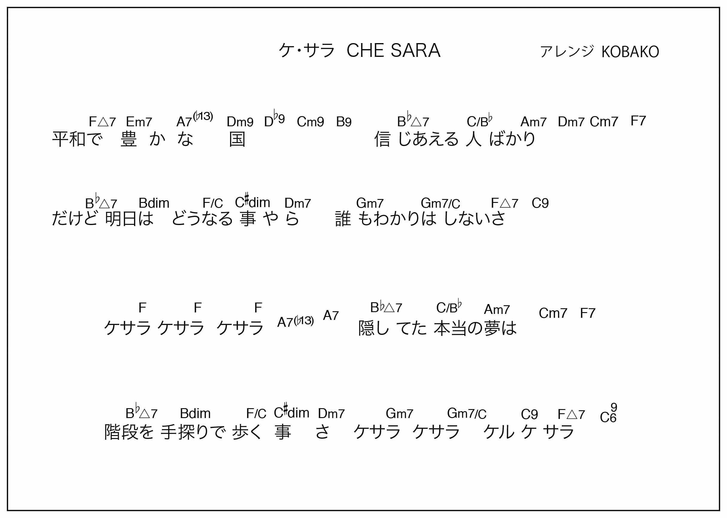 ケサラ CHE SARA 2020