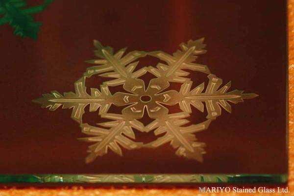 雪の結晶 エッチンググラス